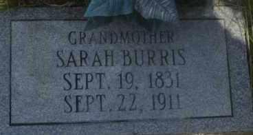BURRIS, SARAH - Hot Spring County, Arkansas | SARAH BURRIS - Arkansas Gravestone Photos