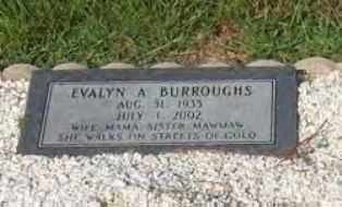 BURROUGHS, EVALYN ALINE - Hot Spring County, Arkansas | EVALYN ALINE BURROUGHS - Arkansas Gravestone Photos