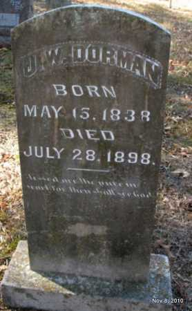 DORMAN, J W - Hot Spring County, Arkansas | J W DORMAN - Arkansas Gravestone Photos