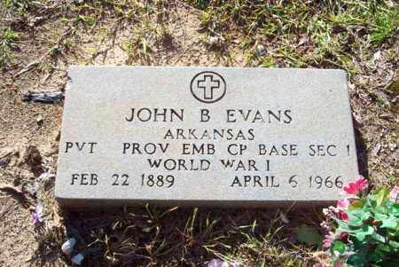 EVANS (VETERAN WWI), JOHN B - Hot Spring County, Arkansas | JOHN B EVANS (VETERAN WWI) - Arkansas Gravestone Photos