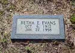 WHITE EVANS, RETHA E. - Hot Spring County, Arkansas | RETHA E. WHITE EVANS - Arkansas Gravestone Photos