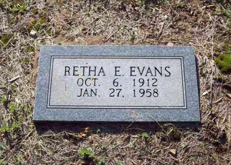EVANS, RETHA E - Hot Spring County, Arkansas | RETHA E EVANS - Arkansas Gravestone Photos