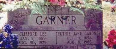 GARNER, RUTHIE JANE - Hot Spring County, Arkansas | RUTHIE JANE GARNER - Arkansas Gravestone Photos