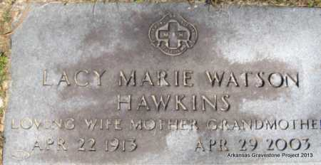 WATSON HAWKINS, LACY MARIE - Hot Spring County, Arkansas | LACY MARIE WATSON HAWKINS - Arkansas Gravestone Photos