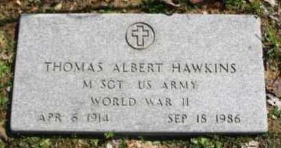 HAWKINS (VETERAN WWII), THOMAS ALBERT - Hot Spring County, Arkansas | THOMAS ALBERT HAWKINS (VETERAN WWII) - Arkansas Gravestone Photos