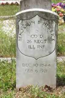 HERRICK (VETERAN UNION), BENJAMIN B. - Hot Spring County, Arkansas | BENJAMIN B. HERRICK (VETERAN UNION) - Arkansas Gravestone Photos