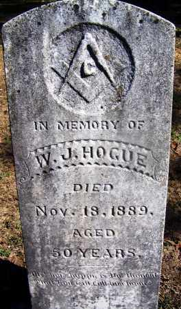 HOGUE (VETERAN CSA), W  J - Hot Spring County, Arkansas | W  J HOGUE (VETERAN CSA) - Arkansas Gravestone Photos