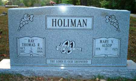 "HOLIMAN, THOMAS R ""RAY"" - Hot Spring County, Arkansas 