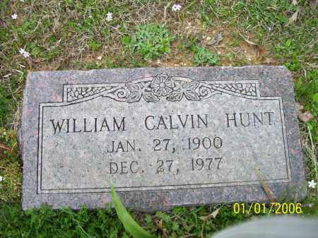 HUNT, WILLIAM CALVIN - Hot Spring County, Arkansas | WILLIAM CALVIN HUNT - Arkansas Gravestone Photos