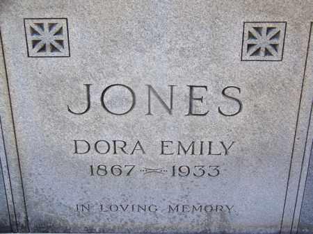 JONES, DORA EMILY (CLOSE UP) - Hot Spring County, Arkansas | DORA EMILY (CLOSE UP) JONES - Arkansas Gravestone Photos