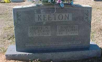 HUGHES KEETON, MARTHA SUSAN - Hot Spring County, Arkansas | MARTHA SUSAN HUGHES KEETON - Arkansas Gravestone Photos