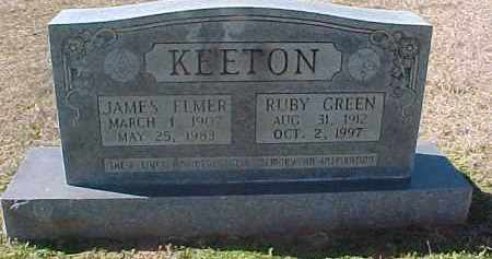 GREEN KEETON, RUBY - Hot Spring County, Arkansas | RUBY GREEN KEETON - Arkansas Gravestone Photos