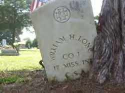 LONG (VETERAN CSA), WILLIAM H - Hot Spring County, Arkansas | WILLIAM H LONG (VETERAN CSA) - Arkansas Gravestone Photos