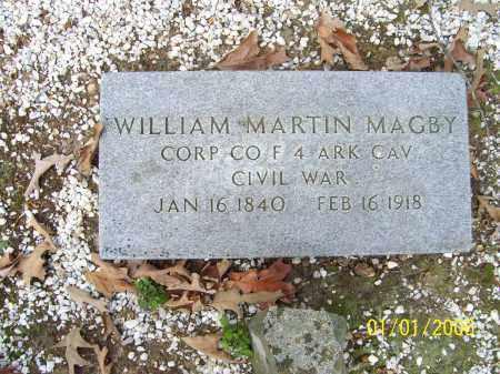 MAGBY (VETERAN UNION), WILLIAM MARTIN - Hot Spring County, Arkansas | WILLIAM MARTIN MAGBY (VETERAN UNION) - Arkansas Gravestone Photos