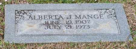 JERNIGAN MANGE, ALBERTA - Hot Spring County, Arkansas | ALBERTA JERNIGAN MANGE - Arkansas Gravestone Photos