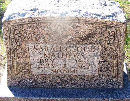 CLOUD MATHEWS, SARAH - Hot Spring County, Arkansas | SARAH CLOUD MATHEWS - Arkansas Gravestone Photos