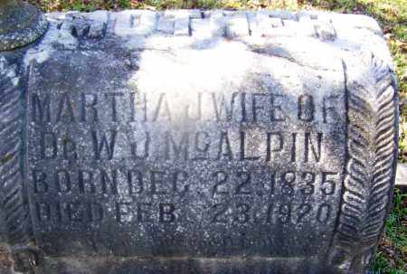 MCALPIN, MARTHA J - Hot Spring County, Arkansas | MARTHA J MCALPIN - Arkansas Gravestone Photos