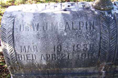 MCALPIN (VETERAN CSA), W J, DR - Hot Spring County, Arkansas | W J, DR MCALPIN (VETERAN CSA) - Arkansas Gravestone Photos
