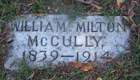 MCCULLY (VETERAN CSA), WILLIAM MILTON - Hot Spring County, Arkansas | WILLIAM MILTON MCCULLY (VETERAN CSA) - Arkansas Gravestone Photos