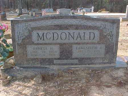 MCDONALD, ERNEST HENRY - Hot Spring County, Arkansas | ERNEST HENRY MCDONALD - Arkansas Gravestone Photos