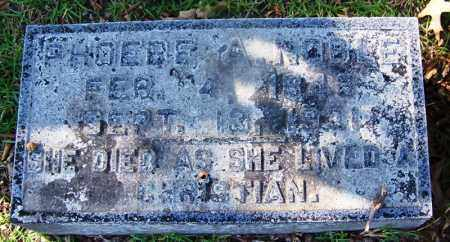 NOBLE, PHOEBE A - Hot Spring County, Arkansas | PHOEBE A NOBLE - Arkansas Gravestone Photos