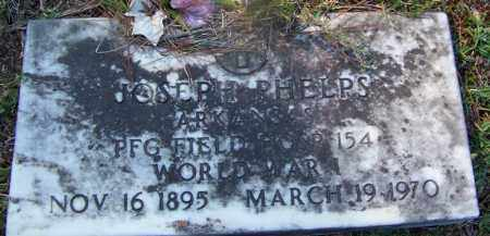PHELPS (VETERAN WWI), JOSEPH - Hot Spring County, Arkansas | JOSEPH PHELPS (VETERAN WWI) - Arkansas Gravestone Photos