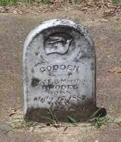 RHODES, GODDEN - Hot Spring County, Arkansas | GODDEN RHODES - Arkansas Gravestone Photos