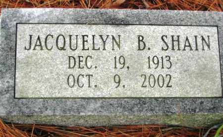 SHAIN, JACQUELINE B - Hot Spring County, Arkansas | JACQUELINE B SHAIN - Arkansas Gravestone Photos
