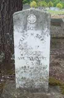 SIRRATT  (VETERAN CSA), NICKLES M - Hot Spring County, Arkansas | NICKLES M SIRRATT  (VETERAN CSA) - Arkansas Gravestone Photos