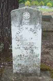 SIRRATT  (VETERAN CSA), NICKLES M - Hot Spring County, Arkansas | NICKLES M SIRRATT  (VETERAN CSA) - Arkansas Gravestone Photos