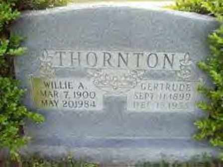THORNTON, WILLIE A. - Hot Spring County, Arkansas | WILLIE A. THORNTON - Arkansas Gravestone Photos