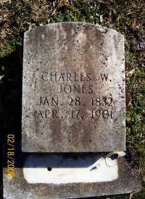JONES  (VETERAN CSA), CHARLES W - Howard County, Arkansas | CHARLES W JONES  (VETERAN CSA) - Arkansas Gravestone Photos