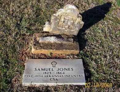 JONES  (VETERAN CSA), SAMUEL WOODFORD - Howard County, Arkansas | SAMUEL WOODFORD JONES  (VETERAN CSA) - Arkansas Gravestone Photos