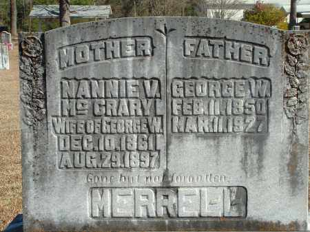 MERRELL, GEORGE W. - Howard County, Arkansas | GEORGE W. MERRELL - Arkansas Gravestone Photos
