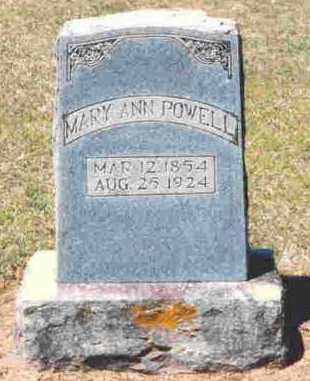 POWELL, MARY ANN - Howard County, Arkansas | MARY ANN POWELL - Arkansas Gravestone Photos