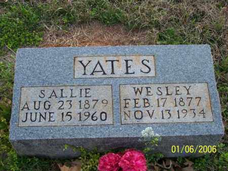 "ROSS YATES, SARAH ANN ""SALLIE"" - Howard County, Arkansas 