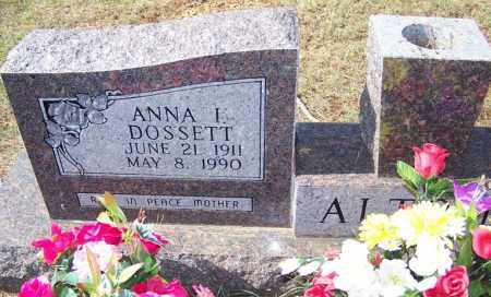 ALTOM, ANNA I - Independence County, Arkansas | ANNA I ALTOM - Arkansas Gravestone Photos