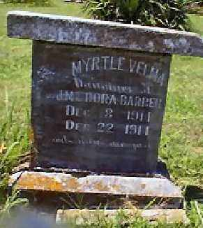 BARBER, MYRTLE VELMA - Independence County, Arkansas | MYRTLE VELMA BARBER - Arkansas Gravestone Photos