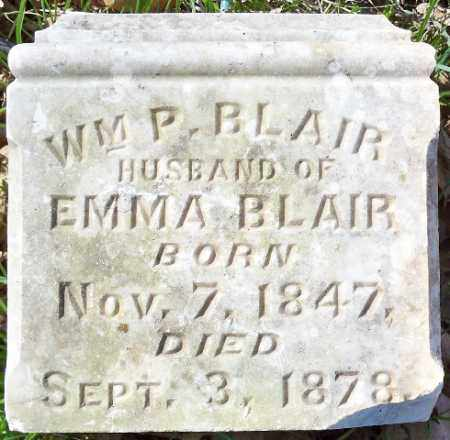 BLAIR, WM. P. - Independence County, Arkansas | WM. P. BLAIR - Arkansas Gravestone Photos