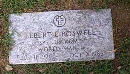 BOSWELL, ELBERT L. - Independence County, Arkansas | ELBERT L. BOSWELL - Arkansas Gravestone Photos