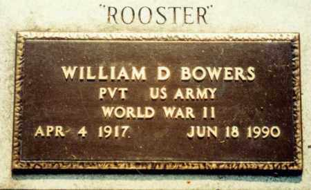 "BOWERS  (VETERAN WWII), WILLIAM DIAL ""ROOSTER"" - Independence County, Arkansas 