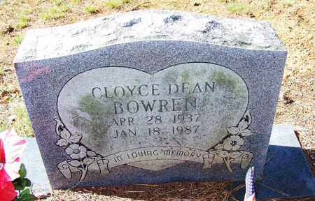 BOWREN, CLOYCE DEAN - Independence County, Arkansas | CLOYCE DEAN BOWREN - Arkansas Gravestone Photos