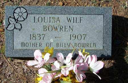WILF BOWREN, LOUISA - Independence County, Arkansas | LOUISA WILF BOWREN - Arkansas Gravestone Photos