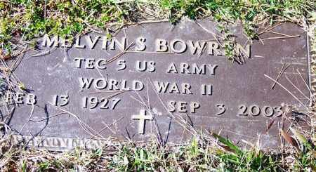 BOWREN (VETERAN WWII), MELVIN S - Independence County, Arkansas | MELVIN S BOWREN (VETERAN WWII) - Arkansas Gravestone Photos