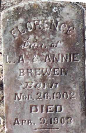 BREWER, FLORENCE - Independence County, Arkansas | FLORENCE BREWER - Arkansas Gravestone Photos