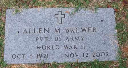 BREWER (VETERAN WWII), ALLEN M - Independence County, Arkansas | ALLEN M BREWER (VETERAN WWII) - Arkansas Gravestone Photos