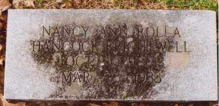 ROLLA HANCOCK, NANCY ANN - Independence County, Arkansas | NANCY ANN ROLLA HANCOCK - Arkansas Gravestone Photos