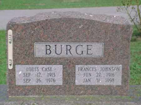 JOHNSON BURGE, FRANCES - Independence County, Arkansas | FRANCES JOHNSON BURGE - Arkansas Gravestone Photos