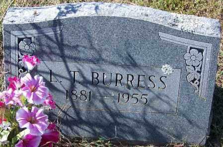 BURRESS, L T - Independence County, Arkansas | L T BURRESS - Arkansas Gravestone Photos
