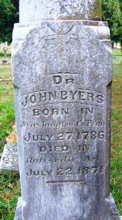 BYERS  DR, JOHN - Independence County, Arkansas | JOHN BYERS  DR - Arkansas Gravestone Photos
